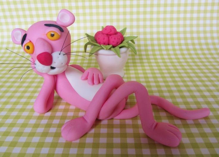 Pink Panther - Cake by Noreen@ Box Hill Bespoke Cakes