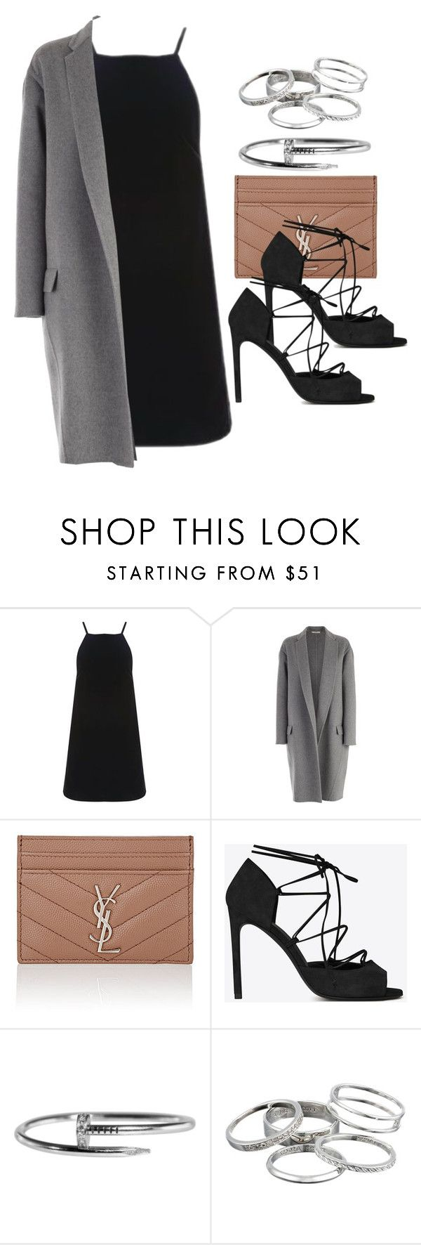 """""""Style #11757"""" by vany-alvarado ❤ liked on Polyvore featuring Topshop, CÉLINE, Yves Saint Laurent and Kendra Scott"""