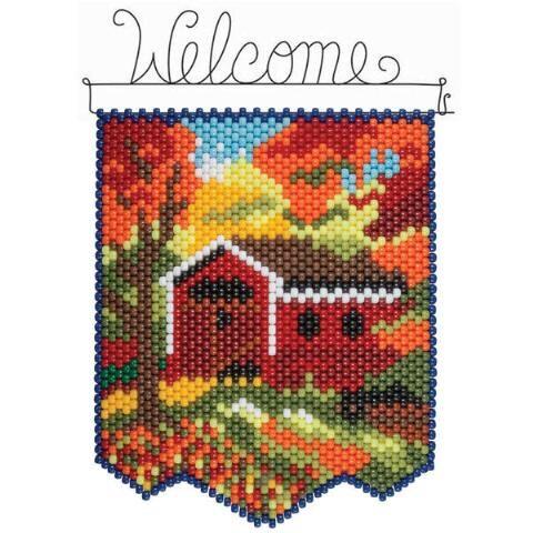 Herrschners® Autumn Bridge Beaded Banner Kit