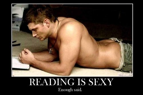 Is reading sexy?  When it looks like this - Hell yes! ;)