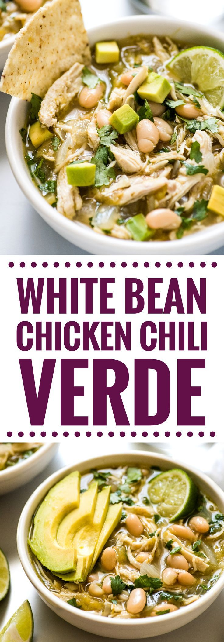 This hearty White Bean Chicken Chili Verde Soup is a comforting one pot meal made with salsa verde that's naturally gluten free for the whole family!