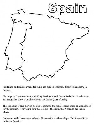 Map Of Spain To Color.Cristofor Columb Coloring Page 8 Cristofor Columb Colouring
