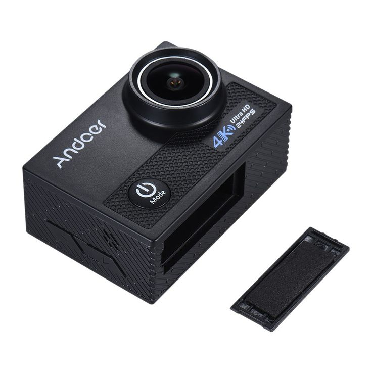 Only US$63.29, black Andoer AN5000 4K 24fps WiFi Sports Action - Tomtop.com