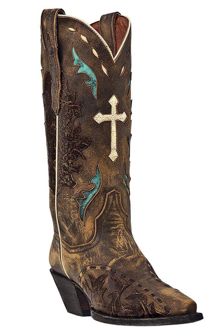 womens cowboy boots   Women's Dan Post Cowgirl Boots Tan Anthem Cross Cowboy Boots