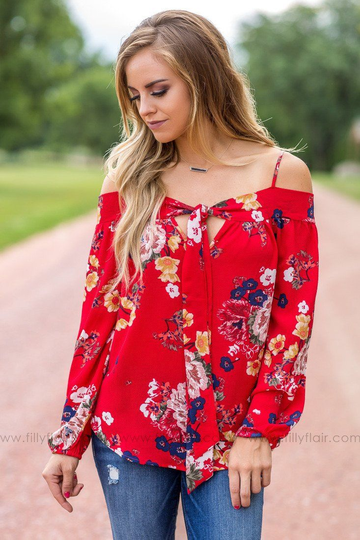 Prettiest Day Floral Top in Red