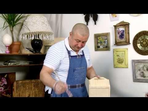 Видео мастер-класс: состаривание древесины и немного декупажа - Ярмарка Мастеров - ручная работа, handmade