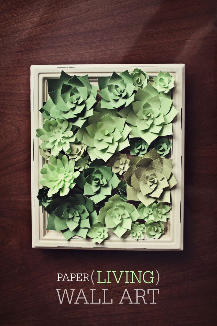 Paper Succulents - Living Wall Art - These are inspired by succulent living wall art! http://www.christopherhiedeman.com/#!home-diy/c4sf