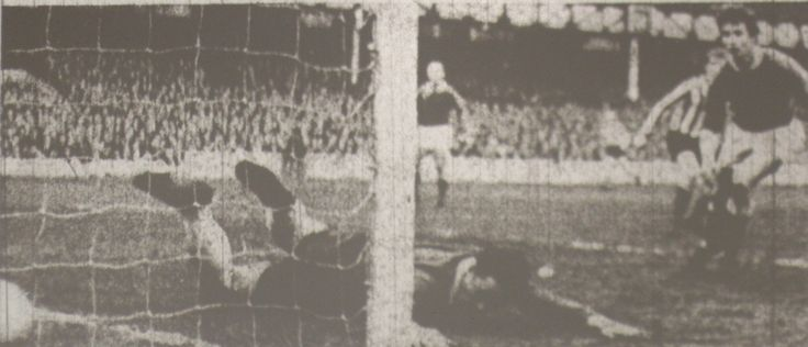 14 January 1966 Alan Ball beats Sheffield United keeper, Hodgkinson, to score his, and Everton's second goal