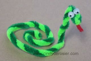 Cindy deRosier: My Creative Life: Pipe Cleaner Snake