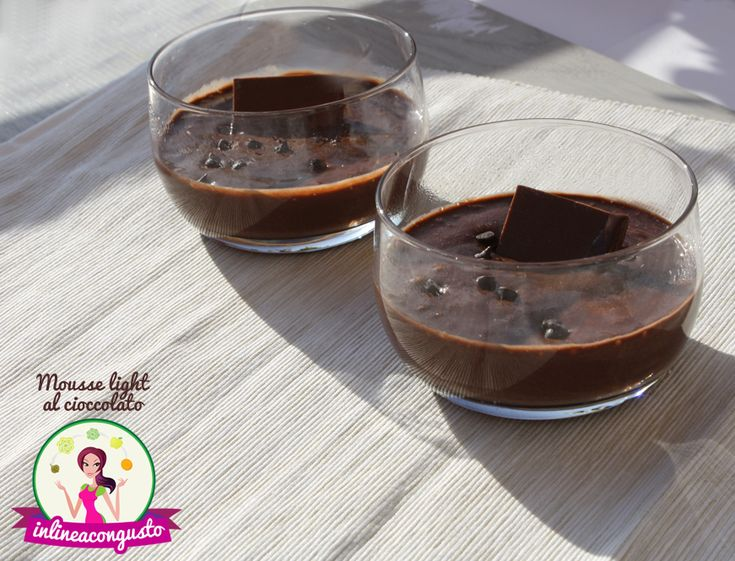 Mousse light al cioccolato