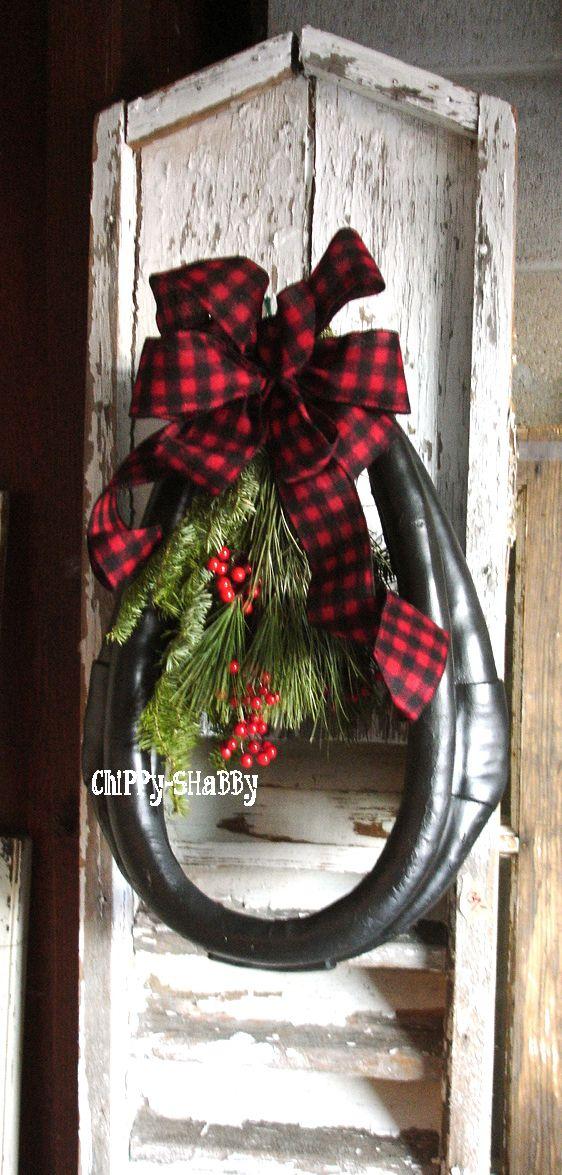 Vintage Horse Collar Christmas Wreaths Decorations