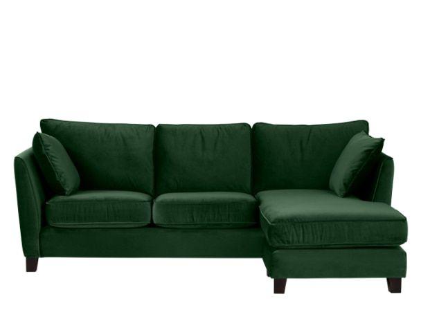 Pleasant Wolseley Large Corner Sofa Forrest Green Velvet New Home Interior Design Ideas Gentotryabchikinfo