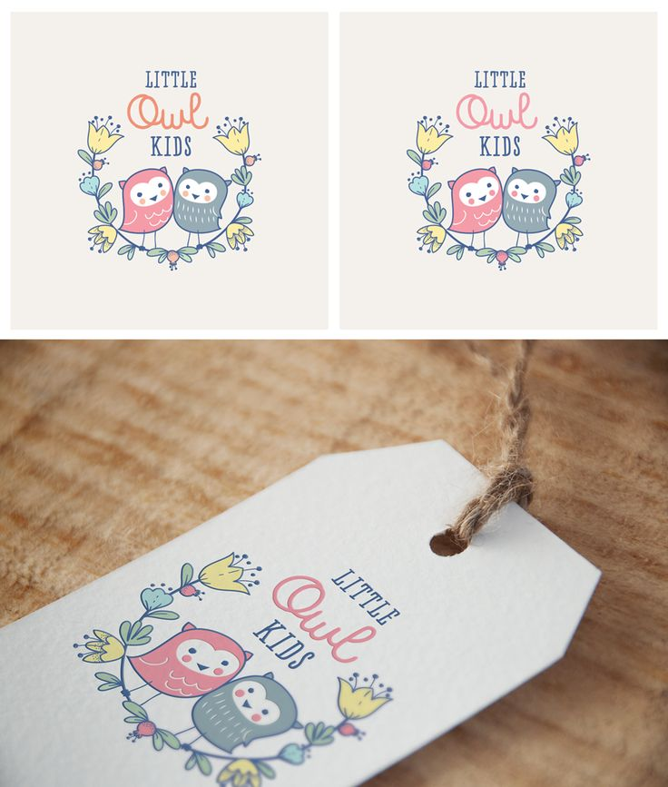 Little Owl Kids online children's clothing boutique logo design by Allynna.
