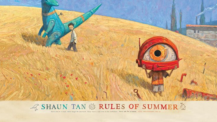 Shaun Tan - Rules of Summer - website full of stuff and inspiration!