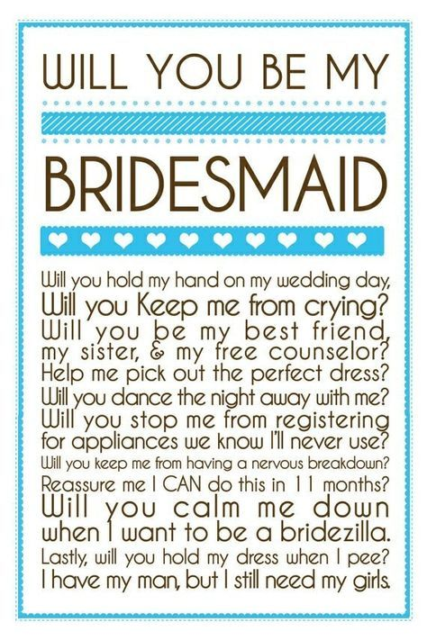 Bridesmaid Letters