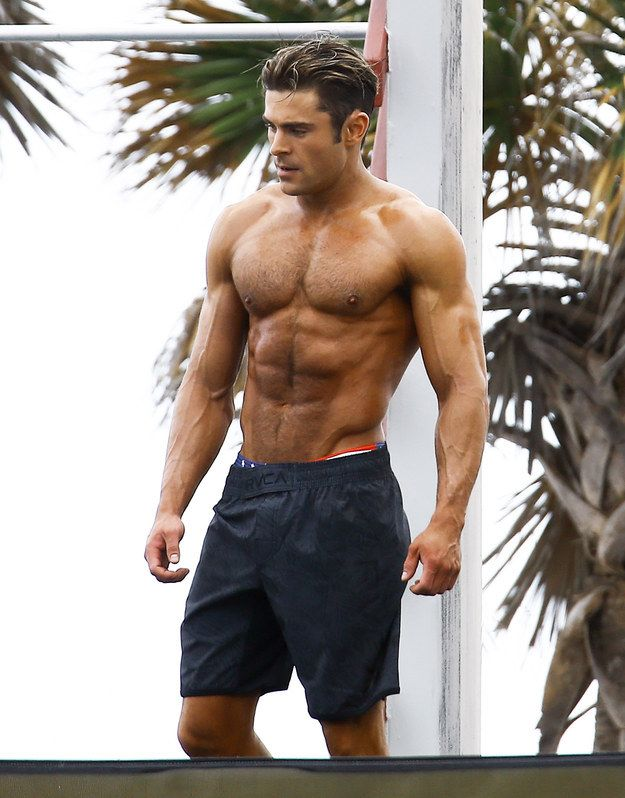 …………..After we post these pictures that came out today from the set of Baywatch. | This Will Be The Final Time You'll See Zac Efron's Shirtless Body