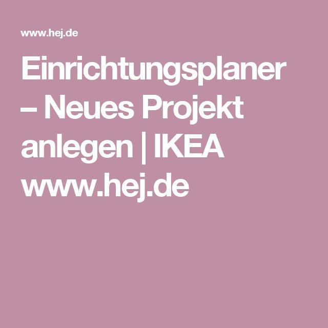 Einrichtungsplaner – Neues Projekt anlegen | IKEA www.hej.de