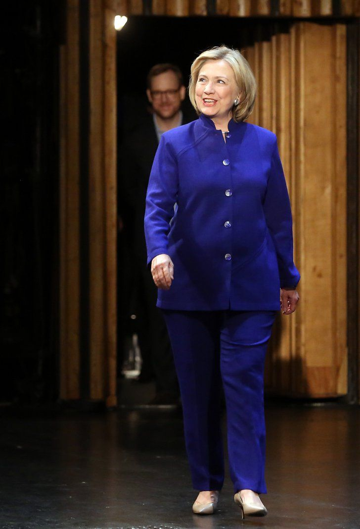 Pin for Later: An Homage to the Many Pantsuits of Hillary Clinton Vibrant Color