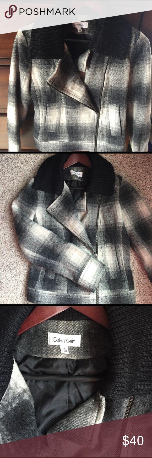 Calvin Klein wool bomber Wool bomber jacket Calvin Klein Jackets & Coats
