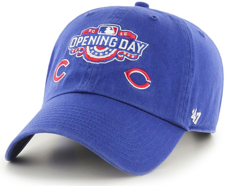 Chicago Cubs 2016 Opening Day Commemorative Adjustable Hat by '47 Brand  #ChicagoCubs #CincinnatiReds #MLB #FlyTheW #Cubs