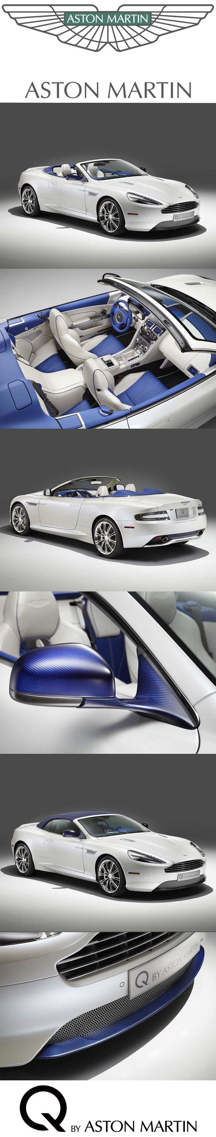 Created with two guiding principles, elegance and purity, this DB9 Volante was commissioned by official dealer Aston Martin Dallas. Challenged to use only white and blue on both exterior and interior, our design team have created a specification which stays true to DB9's timeless elegance but offers a new level of visual distinction. Discover Q by Aston Martin: http://www.astonmartin.com/q #AstonMartin #Q #Vanquish #Personalised