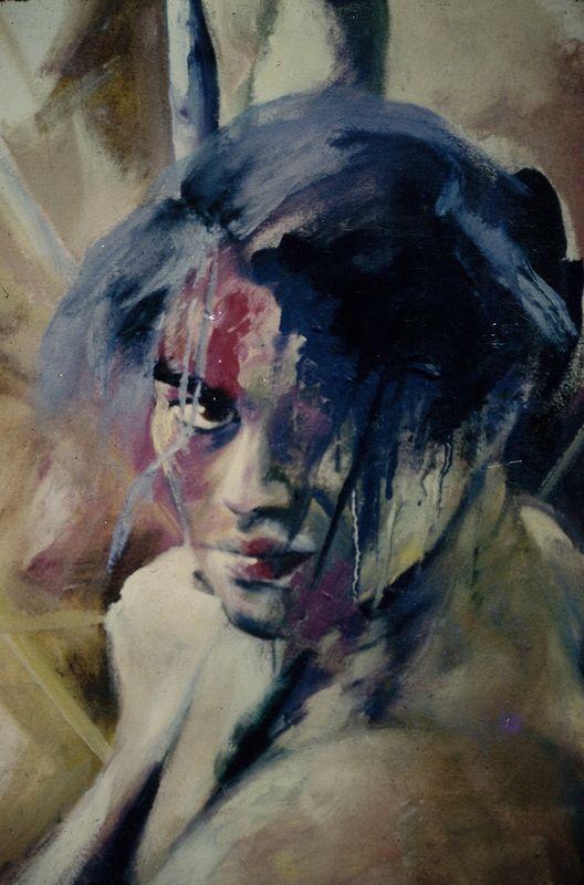 Delicia Sampero.  MANA O TE WHATU, oil on canvas , ~ 1100mm x 910mm.