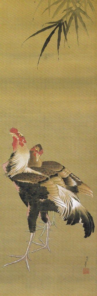 Title:軍鶏図 Artist:葛飾北斎 Katsushika Hokusai