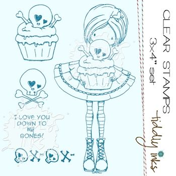 Tintas Tiddly SEMI DULCE Sweet Tooth Borrar Stamp Set TI065