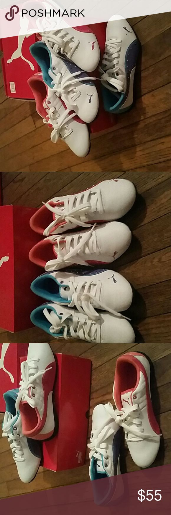 Puma Drift Cat Ladies/Bigkids Sneakers Low top 2 pair sold as set only Puma Shoes Sneakers