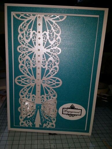 Engagement Card using Sue Wilson French Collection Die