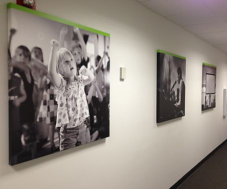 NewSpring, photos on canvas, commercial interior design, photo canvas, wallpaper murals