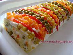 beyazkalemlik: garnitürlü mayonezli patates salatası