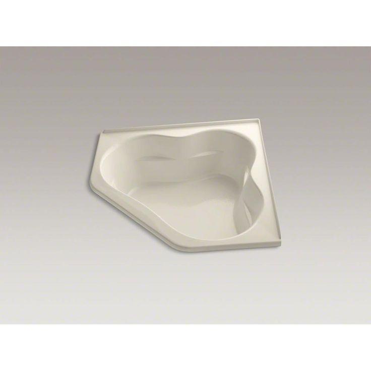 Kohler - 545679 sales at Pipeline Supply Inc. Corner Air Bathtubs in a decorative Almond finish