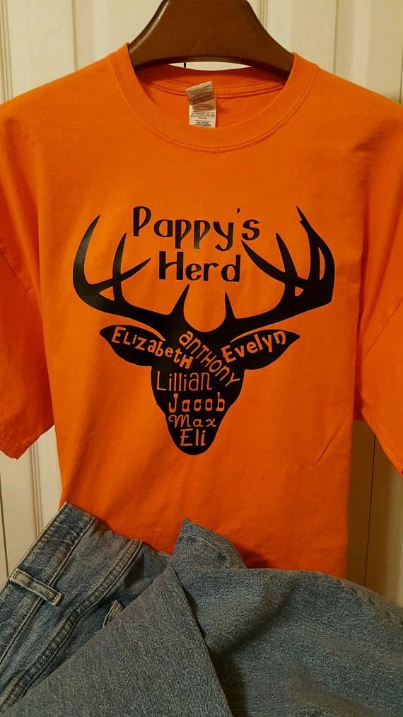 Personalized Father's Day Shirt Pappy's Herd Shirt