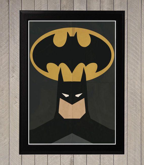 Batman  minimalistische Retro Poster Movie Poster door CultPoster
