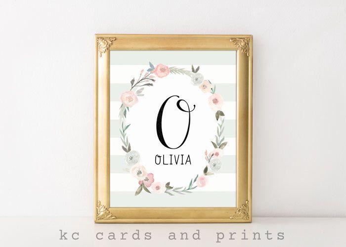 $7.50 Custom Name Signs for Nursery, Olivia, Art Print, Nursery Decor, Kids Room Decor, Nursery Art, Pink and Gray, Wall Art, Instant Download by KCCardsandPrints on Etsy https://www.etsy.com/listing/516357497/custom-name-signs-for-nursery-olivia-art