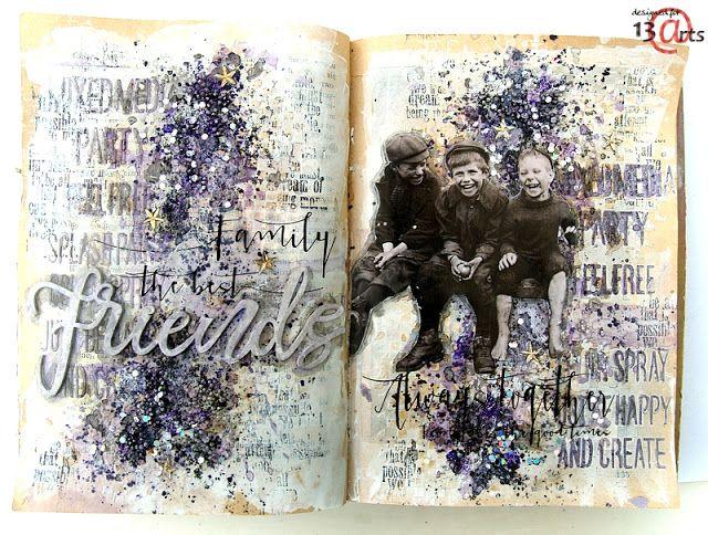 13arts: Art Journal 'Friends' by Anna Rogalska