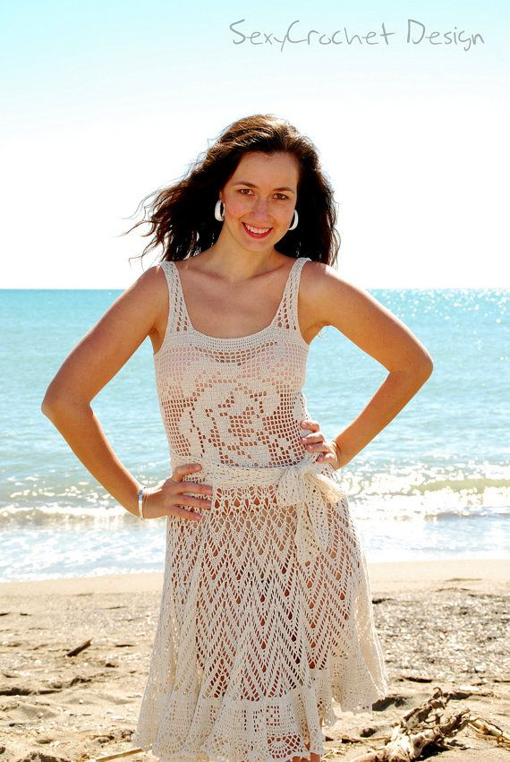 Hey, I found this really awesome Etsy listing at https://www.etsy.com/listing/126804930/on-sale-75-off-crochet-beach-dress