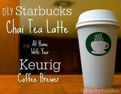 DIY Starbucks Tazo Chai Tea Latte Recipe with a Keurig coffee brewer | The Jenny Evolution