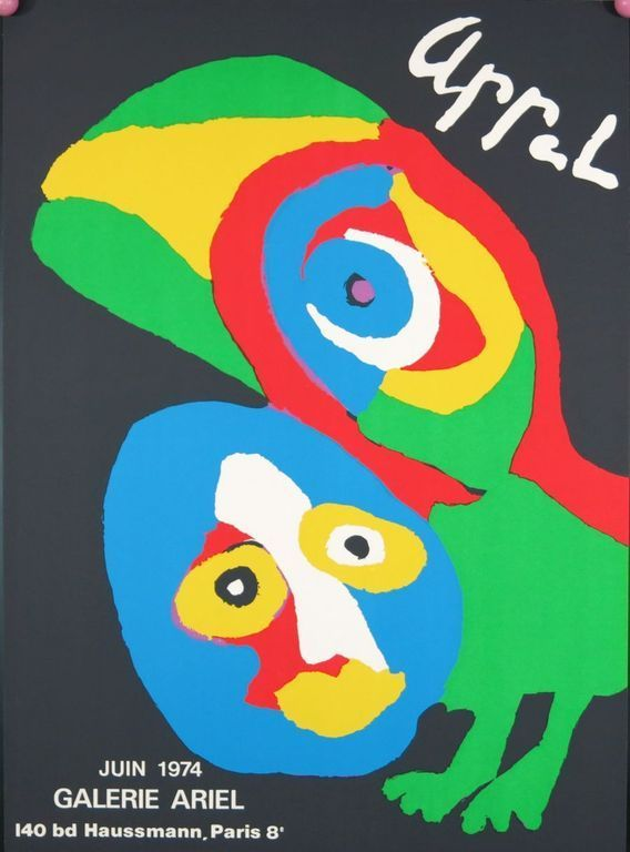 Karel Appel: Tentoonstellingsaffiche Galerie Ariël