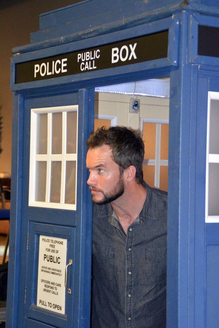 Gareth David-Lloyd in the TARDIS (1) by masimage.deviantart.com on @DeviantArt