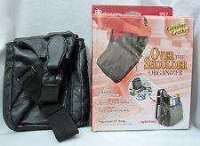 DB Design Buxton Genuine Leather Travel Over the Shoulder Purse Organizer Black