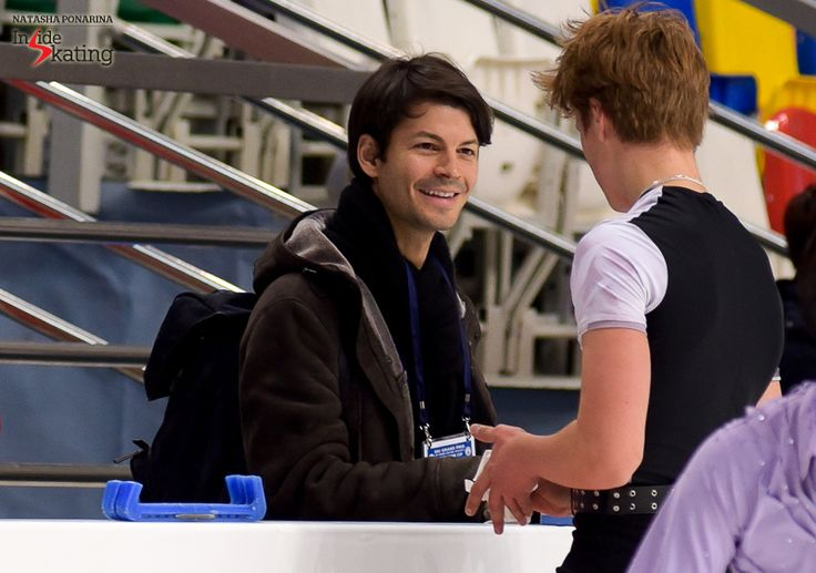 A smiling Stéphane alongside Deniss during a practice session in Moscow
