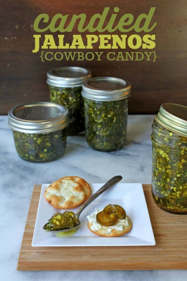 Candied Jalapenos (Cowboy Candy) -- A fun way to enjoy jalapenos!