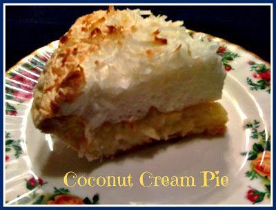 Sweet Tea and Cornbread: Old Fashioned Coconut Cream Pie!