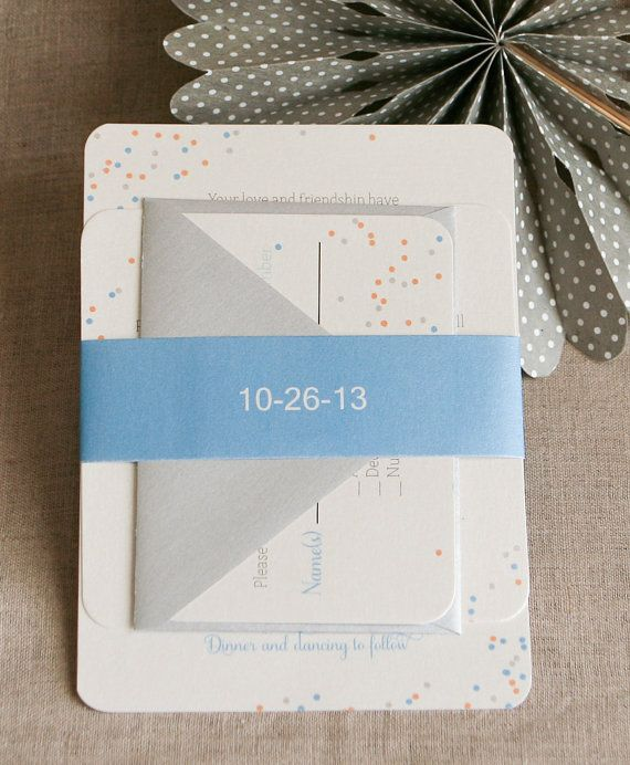DIY Confetti Wedding InvitationsPrintable Wedding par Bdesignspaper
