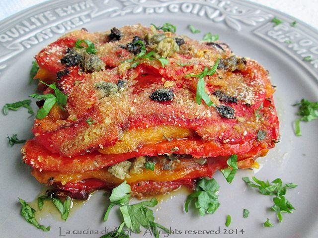 peperoni con olive e capperi gratin La cucina di ASI