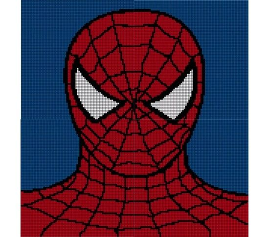 Knit Afghan Patterns Spider Man