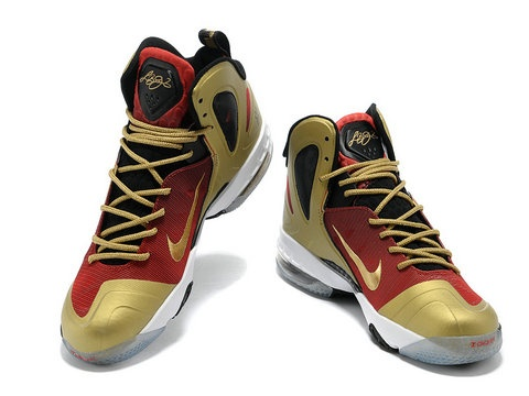 Nike LeBron 9 PS Elite MVP Faded Red Black Gold,Style code:516958-