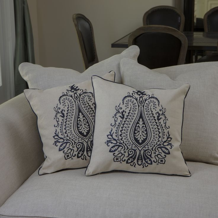 Christopher Knight Home Blue Embroidered Pillows (Set of 2) - Overstock™ Shopping - Great Deals on Christopher Knight Home Throw Pillows